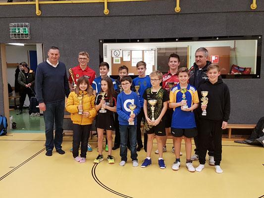 Gruppenfoto vom RC-Tischtennis-Turnier