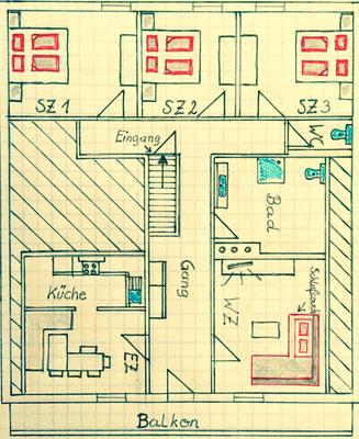 Skizze Appartement Ahorn