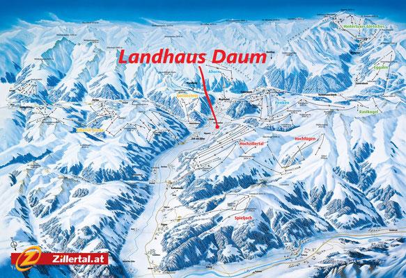 Alle Skigebiete im Zillertal