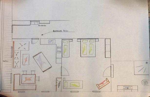 Skizze Appartement Penken