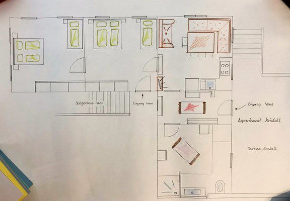 Skizze Appartement Kristall