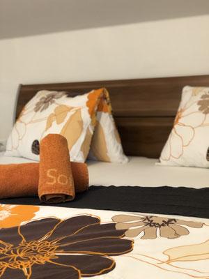 Appartement Ahorn Schlafzimmer