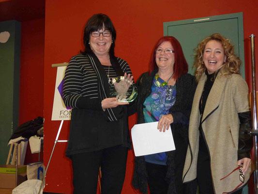 Sylvie Drolet, du magasin Canadian Tire de Shawinigan qui a reçu la RÉCOMPENSE DU CŒUR 2015 décerné par la fondation.