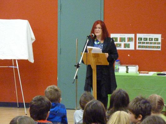 Diane Borgia, conceptrice du programme et maitresse de cérémonie.