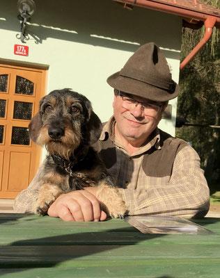 Bernhard mit seinem Ares vom Taborgrund (auch ein Gustl-Enkel)