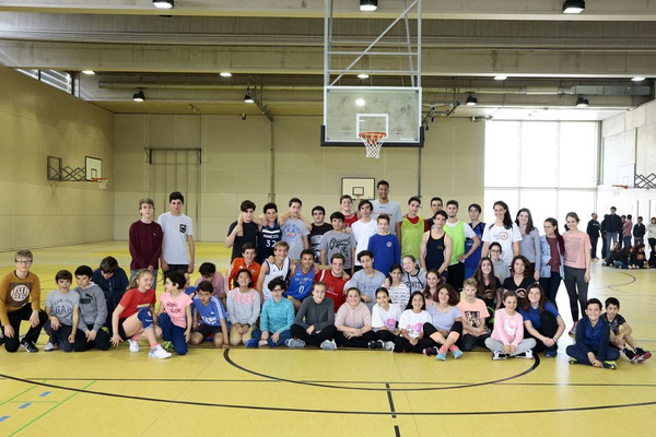 Foto de la cancha de baloncesto del Colegio Alemán de Madrid