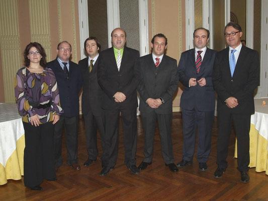 Foto entrega Premio Arquitrabe a Consejero Vivienda