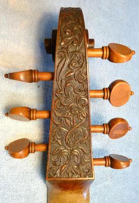 Kopie einer 'Stainer' Schnecke, Rückansicht - Violworks
