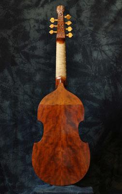 Rückansicht dieser mittelgroßen Colichon, Holz - geflammte Amerikanische Kirsche - Violworks