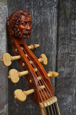 Rose Kopf, lackiert - Violworks