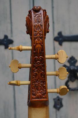 Rose Kopf, lackiert, Rückansicht - Violworks