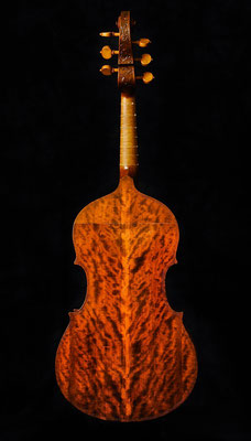 Violoneboden aus geflammter Amerikanischer Kirsche - Violworks
