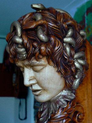 Medusakopf für eine Harfe, lackiert - Violworks