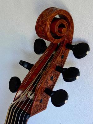 Schnecke einer Alt/Tenorgambe - Violworks
