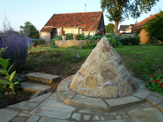 Gartengestaltung Kegel, Bruchstein