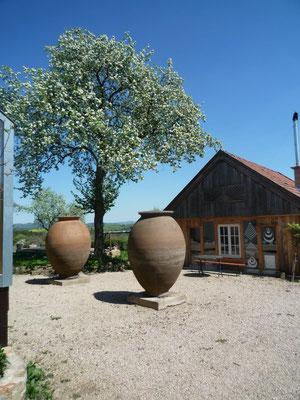 Bildhauerei: Vasenskulptur, Höhe 2,30 m, hergestellt im eigenen Atelier