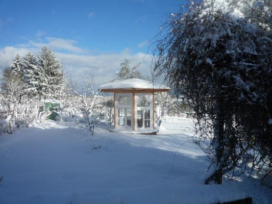 Pavillion im Winter