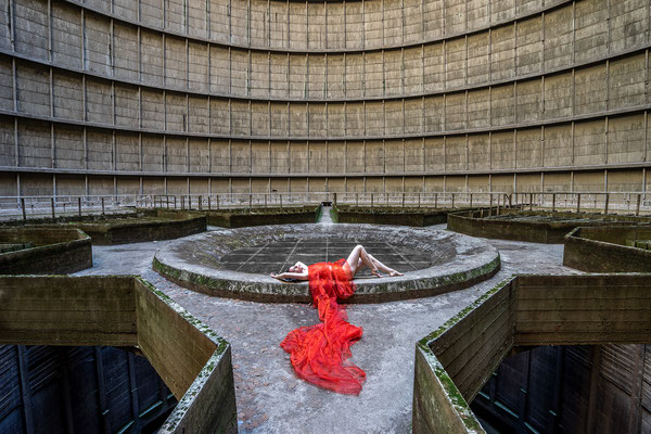 Woman in red (Cooling tower)