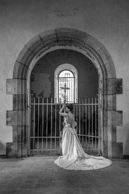Life without you feels like a prison (BnW) (Church of decay)