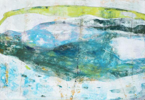 「ミナモ」 15.8×22.7 cm 麻紙・岩絵具 2006年