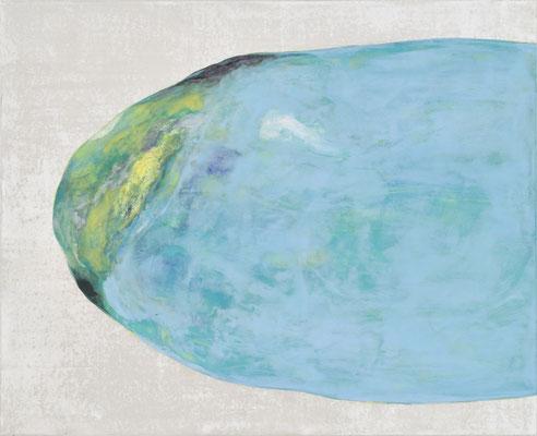 「朝のひかり」 53×65.2 cm  麻紙・岩絵具・銀泥・銀箔  2007年
