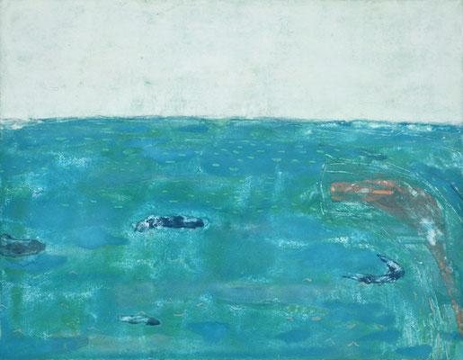 「1989」 15.8 × 22.7 cm 麻紙・岩絵具 2005年
