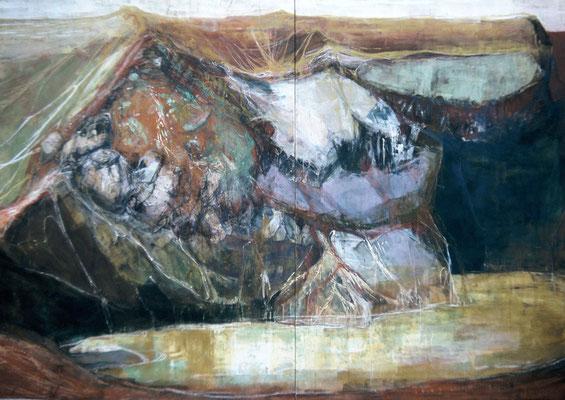 「stone place」 194×274.5 cm 2000年 〈修了制作〉