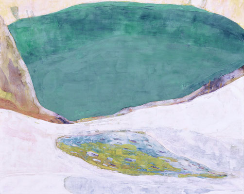 「しろいやま」 72.7×91 cm 麻紙・岩絵具 2005年