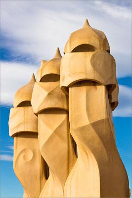 Casa Milà (cheminées), Barcelone, Espagne
