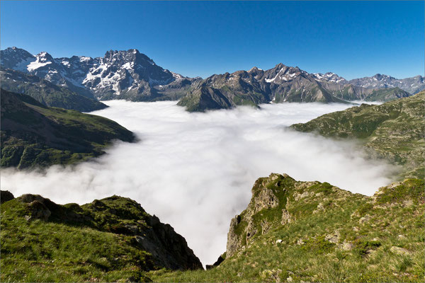 Etoile de brume sur le Gioberney, Valgaudemar, France