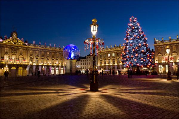 Lumières de Noël Place Stanislas, Nancy, France