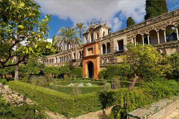 Real Alcazar (jardins), Séville, Espagne