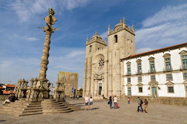 Pilori et Cathédrale Sé, Porto, Portugal