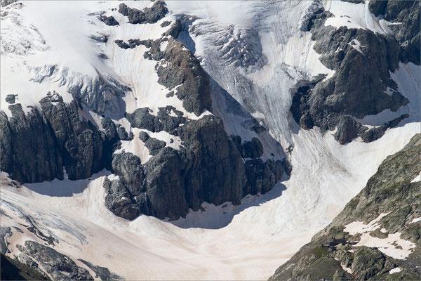 Glacier et refuge de la Pilatte, Vénéon, France