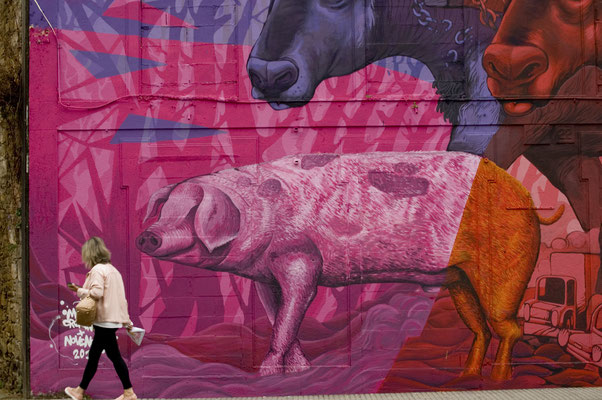 Mural de MUTANTE CREATIVO e NOVENOEL
