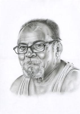 [commande] Jean-Claude, crayons graphite, A3, 2019