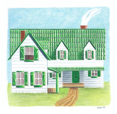 Green Gables, crayons de couleur, 2020