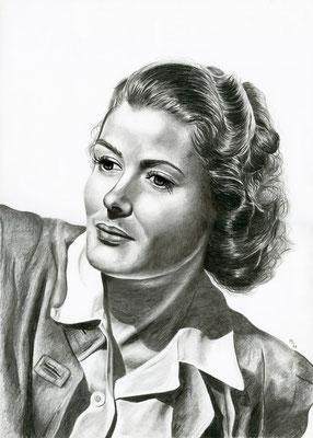 Bergman, crayons graphite, A3, 2018