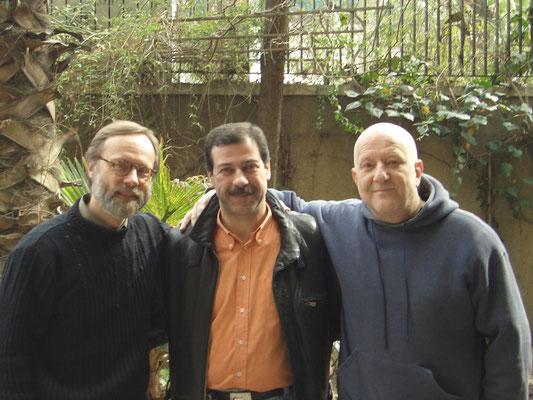Mit Manfred Ewel und Jamal al Saqa