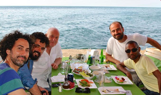 Mit John Hadfield (USA), Petros Klampadis (GR), Kinan Azmeh (SYR) und Dinik Wijeratne (CAN) in Beirut