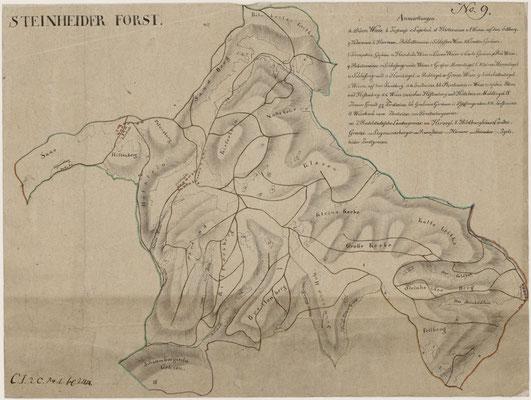 Bergwiesen auf alten Forstkarten