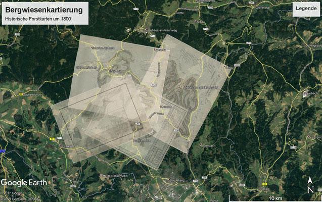 Georeferenzierte historische Karten in Google Earth