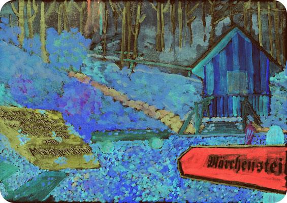 Märchenstein mit Schutzhütte an der ehemaligen Welschenwiese