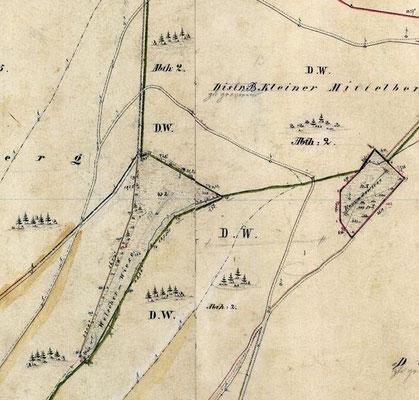 Kartierung Landesvermessung, 1864