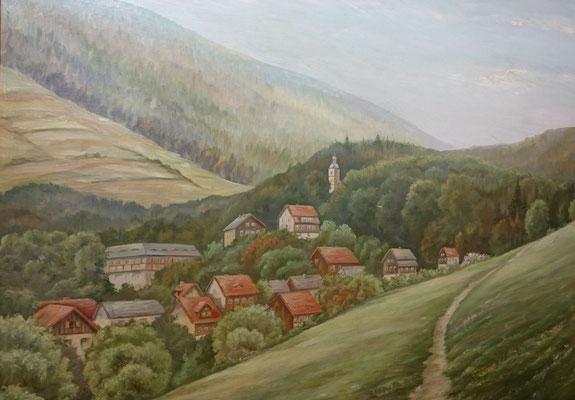 Rauenstein, Gemälde nach einer historischen Vorlage, Museum Rauenstein