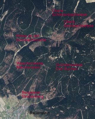Luftbild 2015 mit ausgewählten Standorten