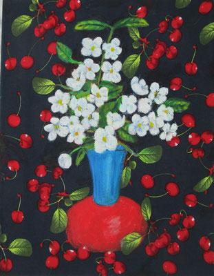 Kirschblüten 45 x 35  2020