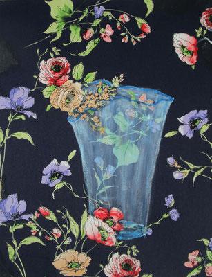 Blaue Vase  45 x 35  2020