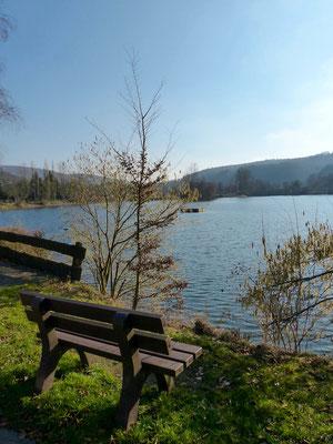 Blick auf den See auf dem Campingplatz Teichmann I.