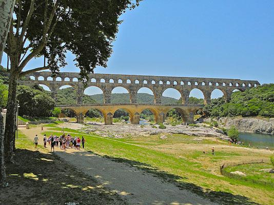 Pont du Gard. Ein altes römisches Aquädukt.